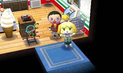 Isabelle seems to think it's a great store. Next public work: dentist shop! (not really)